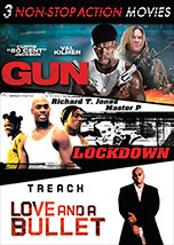 Non-Stop Action Triple Feature (Gun, Love and a Bullet, Lockdown)
