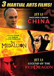 Martial Arts Triple Feature (The Medallion, Once Upon a Time in China, Legend of the Red Dragon)